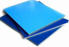 High gloss aluminium composite panel blue/green/white/red